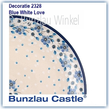 Bunzlau Blue White Love (2328)
