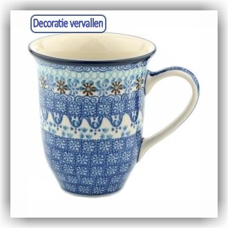 Bunzlau Tulp XL Beker 500ml (1826) - Blue Coral (2187)