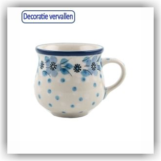 Bunzlau Bolle espresso mok 90ml (1829) - Blue White Love (2328)