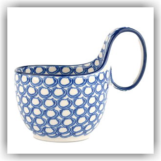 Bunzlau Waterscoop/Soepkom 400ml (1845) - Pearls (2403)