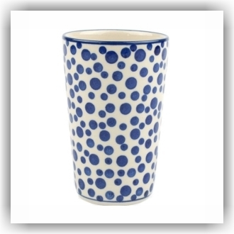 Bunzlau Beker strak L - 330ml (2349) - Crazy Dots (1813)